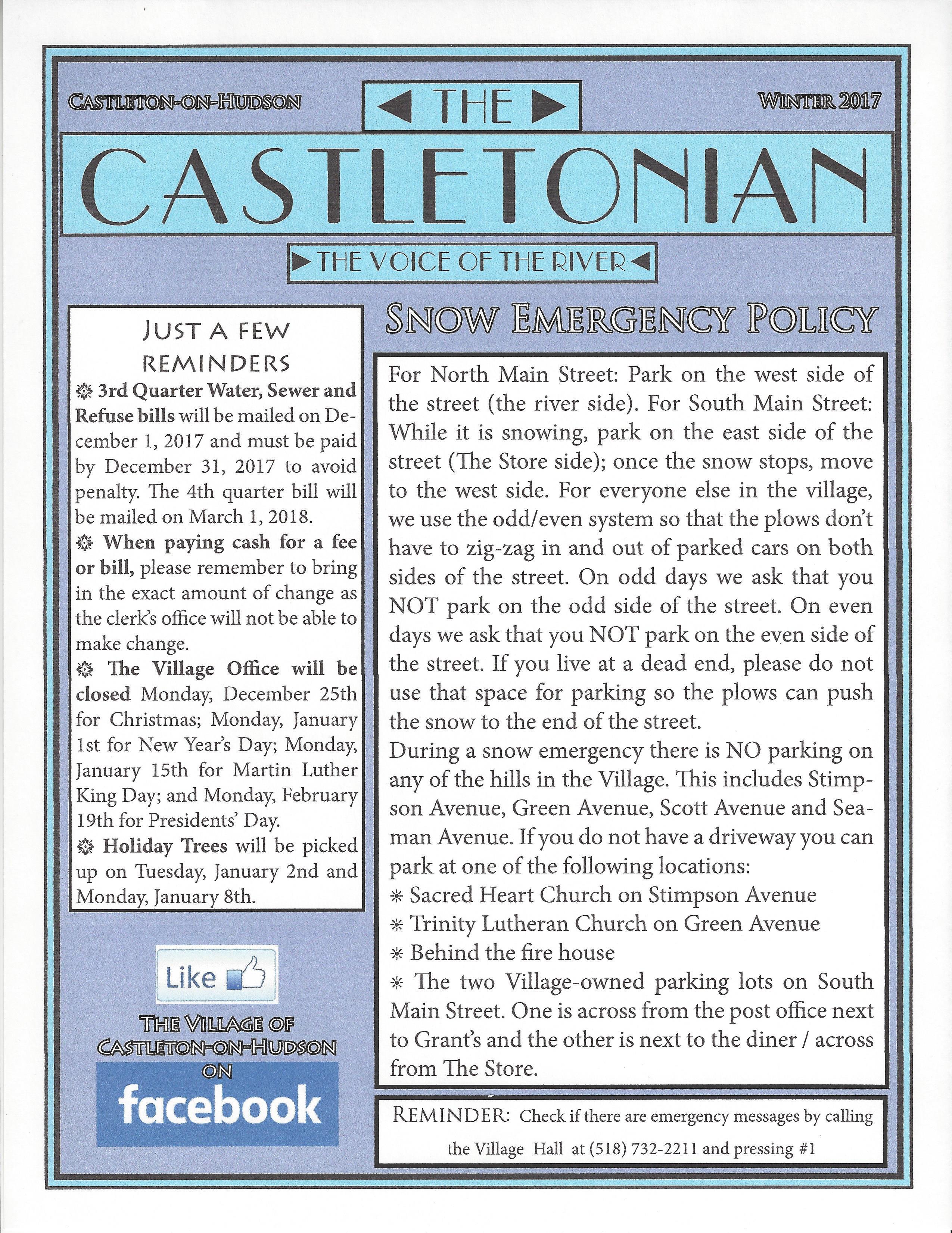 Castletonian - Winter 2017
