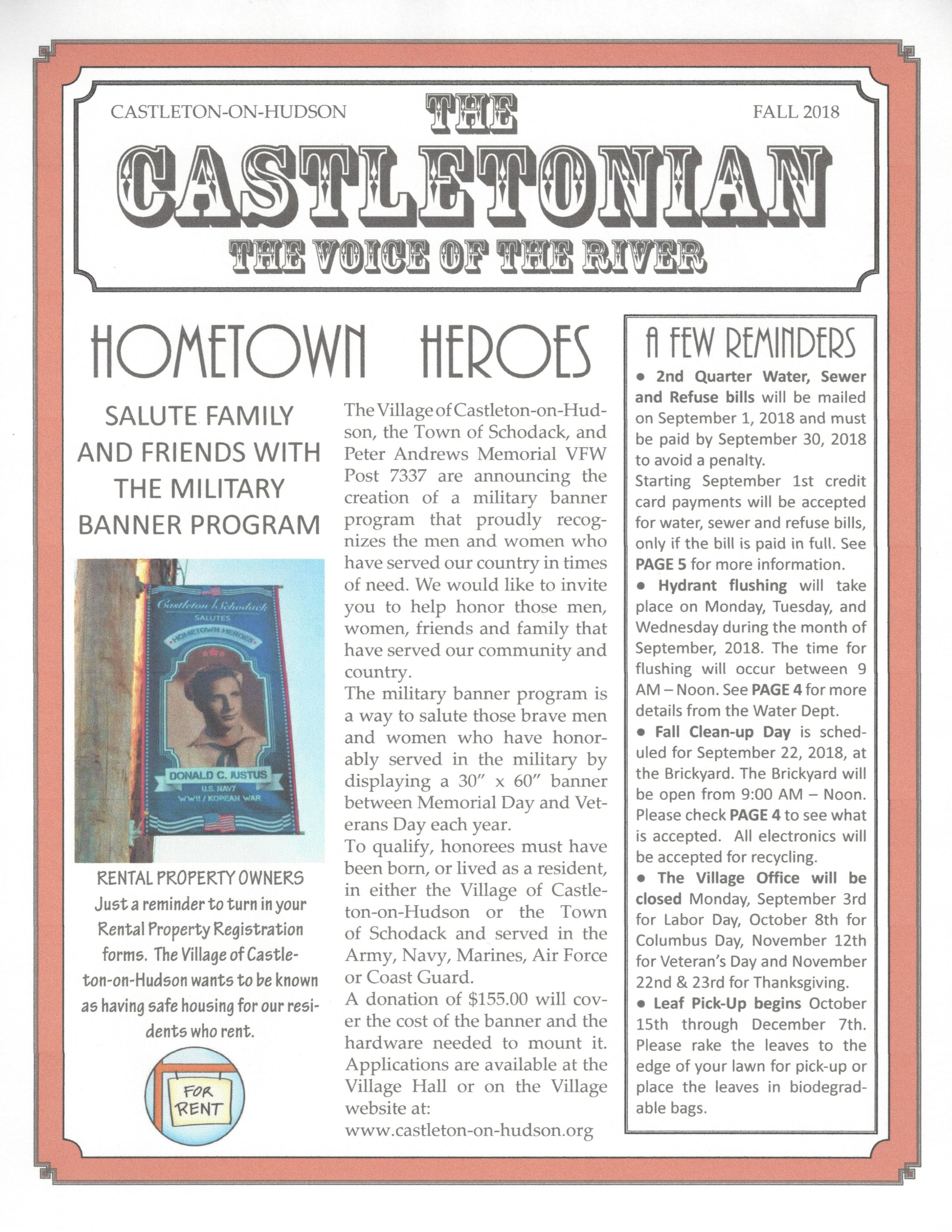 The Castletonian Fall 2018